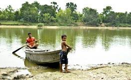 Child Boatman Stock Photography