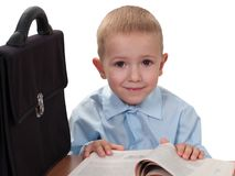 Child with book Royalty Free Stock Photo