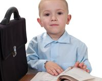 Child with book Royalty Free Stock Image
