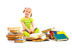 Child with book royalty free stock images