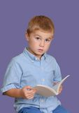 Child with Book Royalty Free Stock Photos