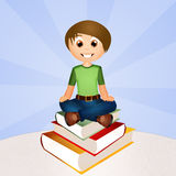 Child on the book Royalty Free Stock Photos