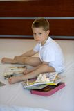 Child with books Royalty Free Stock Image