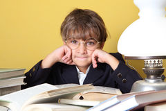 Child with books royalty free stock photos