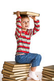 Child with books Stock Photo