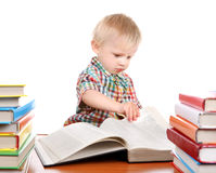 Child with the Books Royalty Free Stock Photos