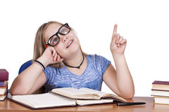 Child with books Royalty Free Stock Photo