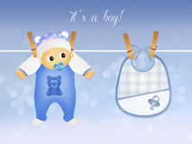 A child is born male Royalty Free Stock Images