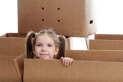 Child in box Royalty Free Stock Photos