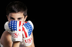 Child boxing Stock Photography