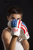 Child boxing Royalty Free Stock Images