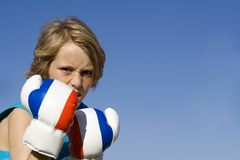 Child boxing sport Royalty Free Stock Photography