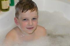 Child boy bathing royalty free stock photos