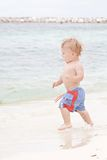 Child, Boy on Beach Stock Images