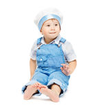Child boy in blue clothing happy smiling Royalty Free Stock Photography