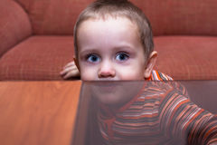 Child boy hiding Royalty Free Stock Photo