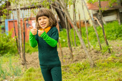 Child boy in nature Stock Image