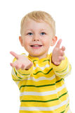 Child boy with palm up Stock Photography