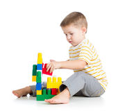 Child boy playing Royalty Free Stock Images