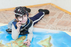 Child boy playing pirate Royalty Free Stock Image