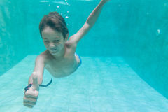 Child boy swimming underwater Royalty Free Stock Photography
