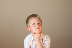 Child (boy) thinking Stock Image