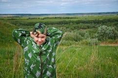 Child boy traveller Stock Photography