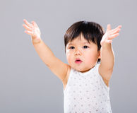 Child boy want to get hug Stock Photo