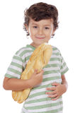 Child with bread Royalty Free Stock Photo
