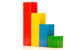 Child bricks as a steps Stock Photography