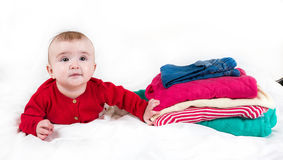 The child in bright clothes Royalty Free Stock Photo