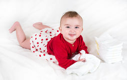 The child in bright clothes Royalty Free Stock Photos