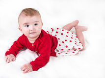 The child in bright clothes Stock Photos