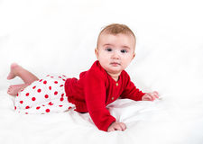 The child in bright clothes Royalty Free Stock Images