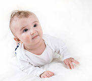 The child in bright clothes Royalty Free Stock Image