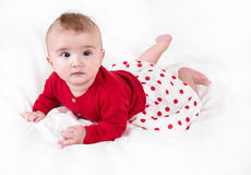 The child in bright clothes Stock Photography