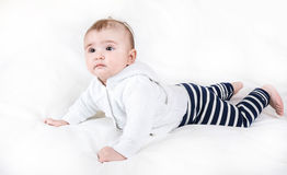 The child in bright clothes Stock Images