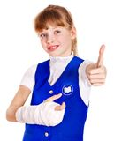 Child with broken arm. Stock Photos