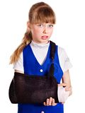 Child with broken arm. Stock Images
