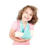 Child with broken hand Stock Images