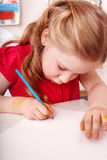 Child with brush Royalty Free Stock Images