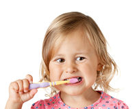 Child with brush Stock Images