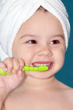 Child brush teeth Stock Images