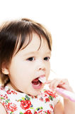 Child brushes teeth Stock Image