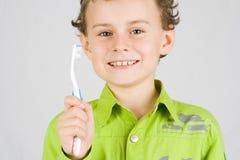 Child brushing teeth Royalty Free Stock Image