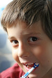 Child brushing teeth Stock Photography