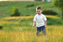 Child bubble Royalty Free Stock Image
