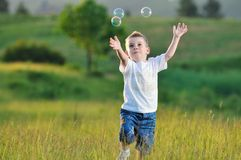Child bubble stock images