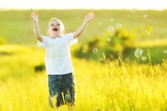 Child bubble Stock Photography