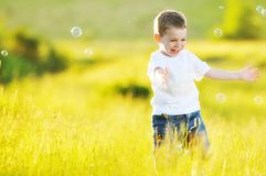 Child bubble Royalty Free Stock Photography